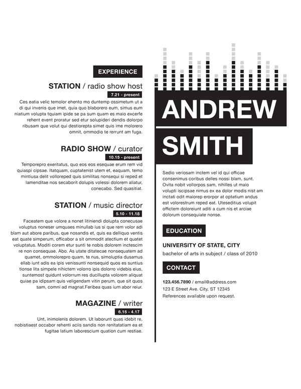 Radio Resume 1